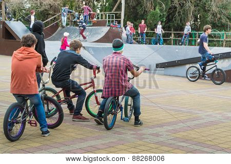 Skaters And Cyclists