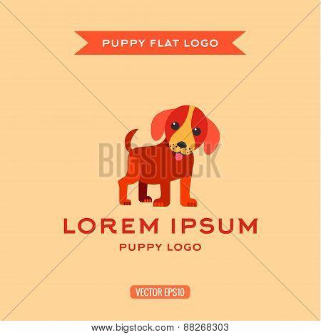 Dog, Puppies, Style Flat, Vector Illustration, Logo