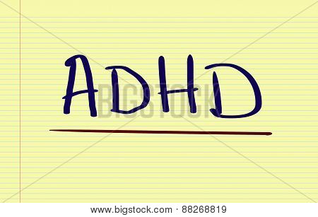 Attention Deficit Hyperactivity Disorder Concept