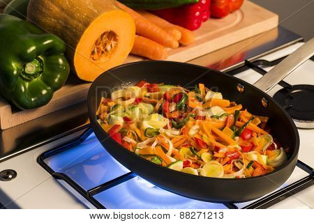 Cooking vegetables mix