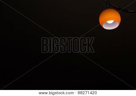 Orange Coloured Lamp