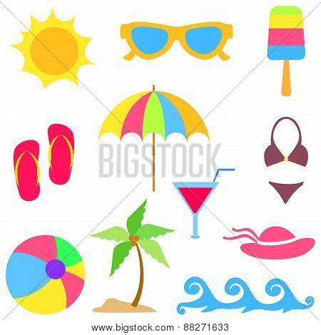 Summer vacations elements