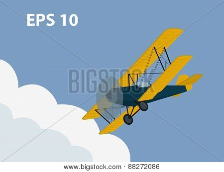 illustration of a biplane
