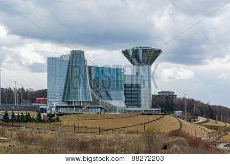 Moscow, Russia - April 18, 2015. The House Of Moscow Oblast Government. Construction Of House Was St