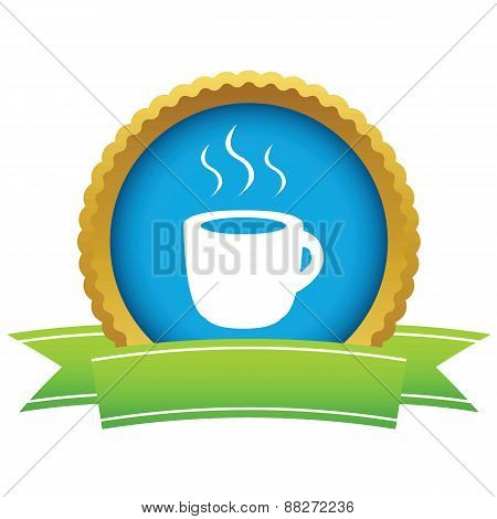 Gold cup of coffee logo