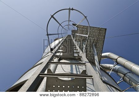 Personal perspective to the Safety metal ladder