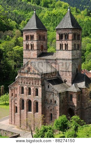 The Roman Abbey Of Murbach In Alsace