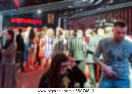 TV show filming backstage blur background