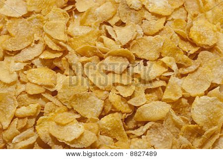 Texture Of Cornflakes As A Background