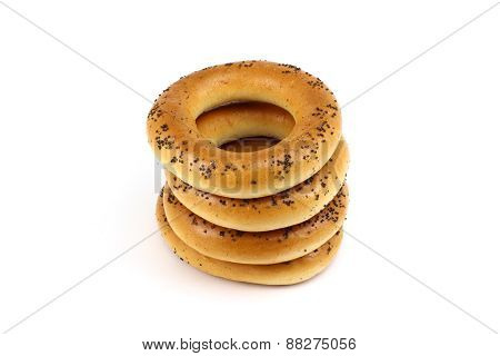 Stack Of Poppy Bagels