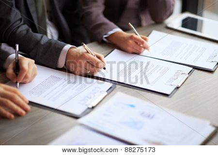 Business young people in the job interview signed an employment contract with boss
