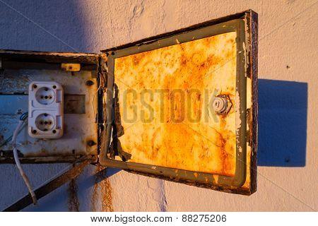 Rusty Electircity Supply Box