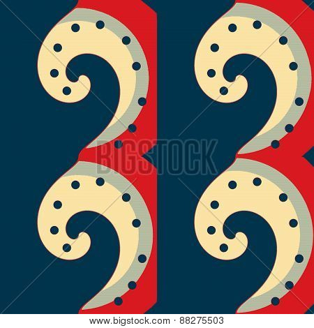Abstraction decorative pattern with spirals