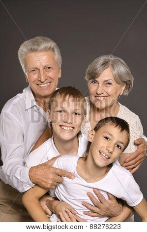 Happy grandparents