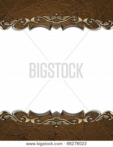 Element For Design. Template For Design. Antique Frame With Gold Pattern