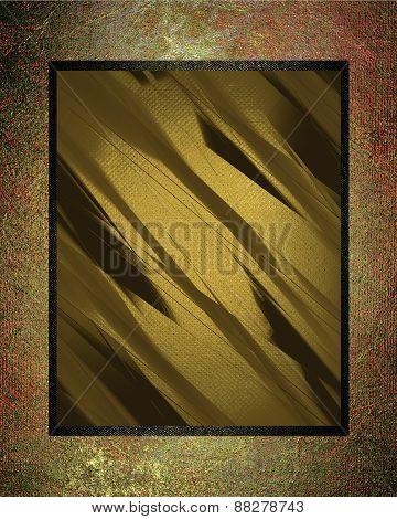 Element For Design. Template For Design. Abstract Metall Texture With Yellow Nameplate