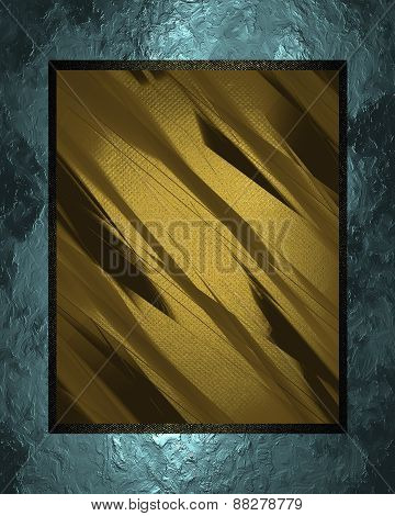 Element For Design. Template For Design. Abstract Blue Texture With Yellow Nameplate