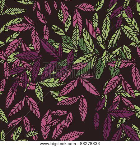 Seamless floral drammatic pattern