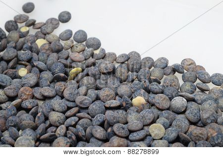 Black And Green Lentils Background