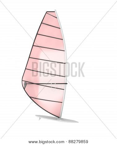 Sailboard Isolate On White Background