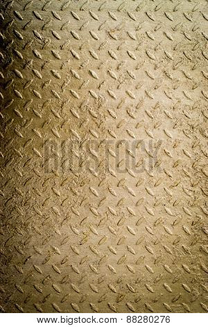 Gold Painted Metal