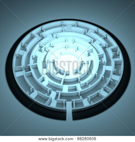 Round shape maze with same enter and exit