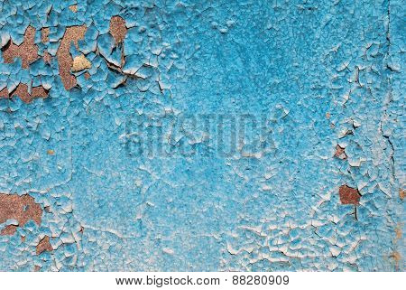 chipped paint on old concrete wall