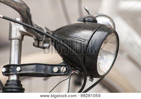 Retro bicycle headlight