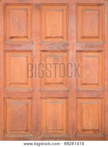 Old Decorate Wood Background