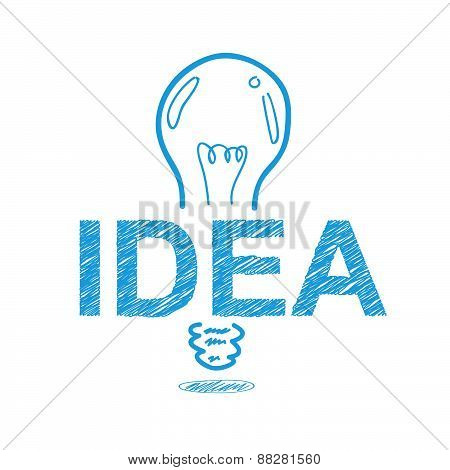 Handwriting Sketch Idea Concept Design