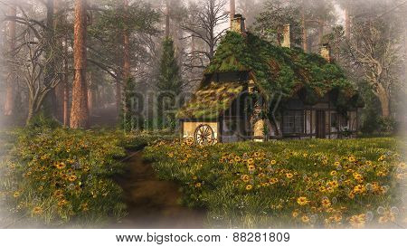 Hut On The Edge Of The Forest, 3D Cg
