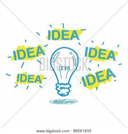 Handwriting Crayon Sketch Idea Concept Design