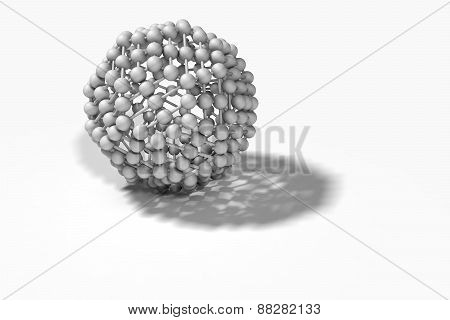 Illustration Depicting Molecular Structure Concept Against White.