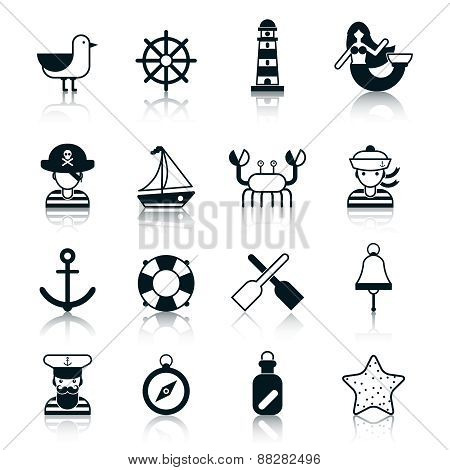 Nautical Icons Black