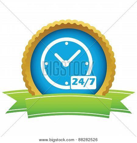 New gold clock logo