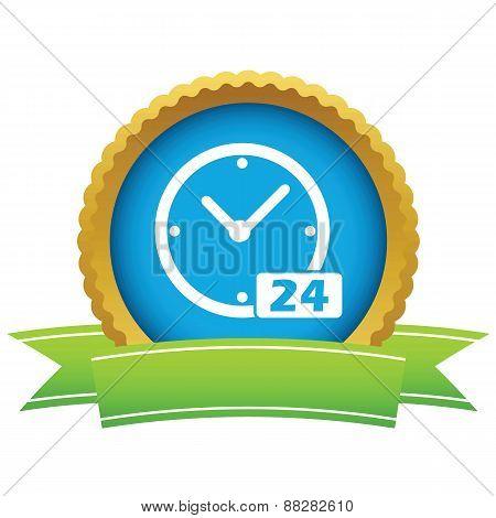 Best gold clock logo