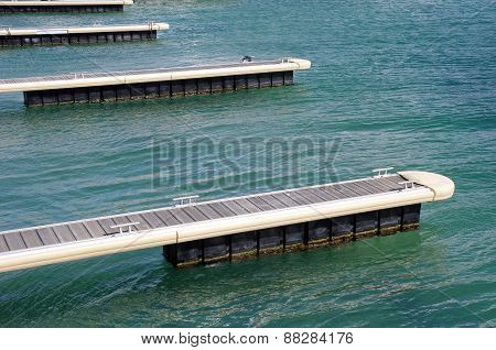 Piers For Boats In Black Sea, Bulgaria