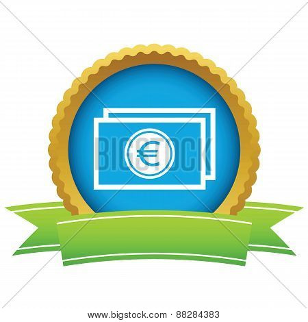 Gold euro buck logo