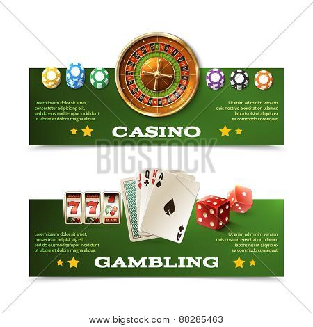 Casino Banners Set