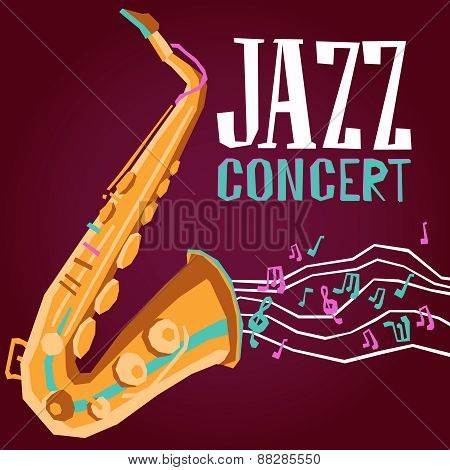 Jazz Poster With Saxophone
