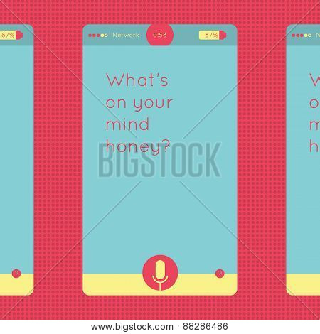 Colorful smartphone and tablet graphic