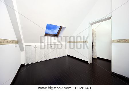 Attic Room With Roof Skylight Window