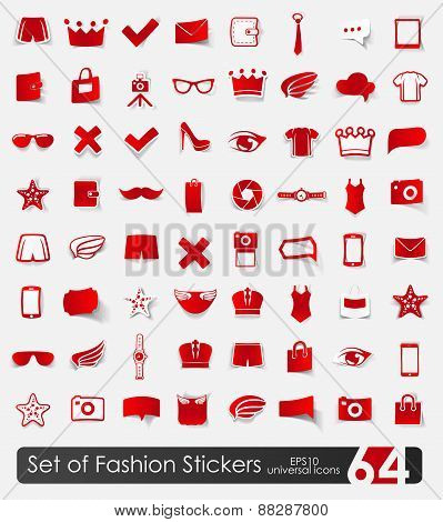 Set of fashion stickers