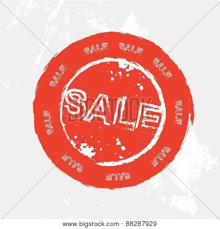 Red sale rubber stamp in vector format
