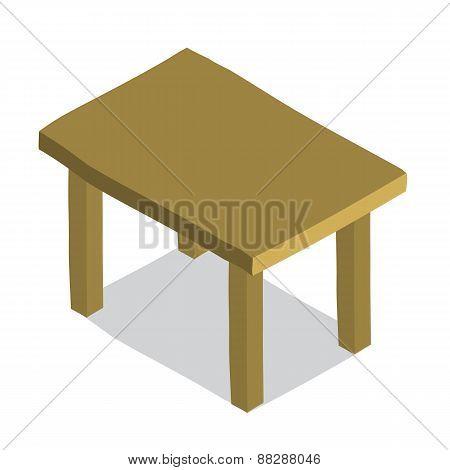 Vector cartoon flat Table icon.