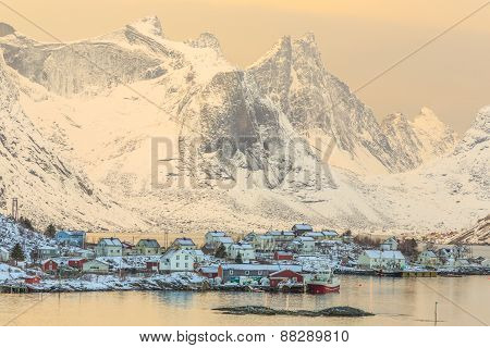 Reine, fishing village
