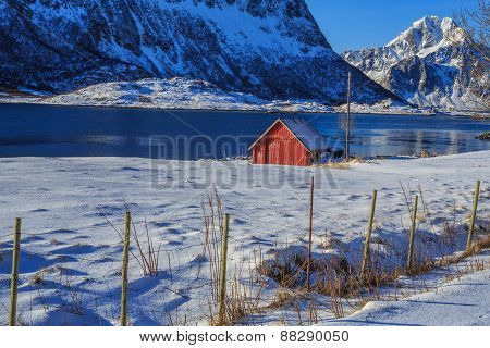 fishing shed near the fjord