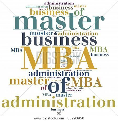Mba. Master Of Business Administration.