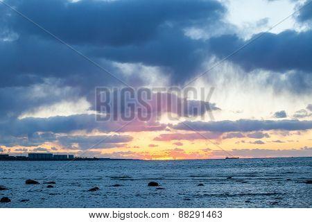 Sunset on the Baltic Sea, Tallinn, Estonia