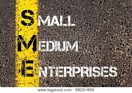 Business Acronym Sme As Small Medium Enterprises